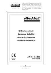 Efbe-Schott GA 500 SC GA 500 Data Sheet
