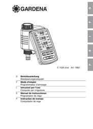 Gardena Water Computer C 1030 plus 1862-20 Data Sheet