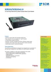 SCM SCR333 SCR333BK Leaflet