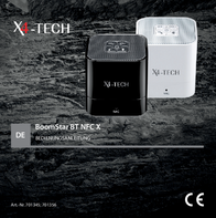 X4-TECH BoomStar BT NFC X 701345 User Manual