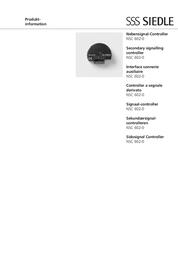 Siedle Door intercom Sounder NSC 602-0 NSC 602-0 Data Sheet