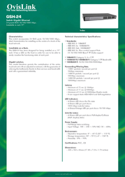 OvisLink GSH-24 GSH24 Leaflet