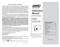 Coleman Refrigerator 5726-750 User Manual