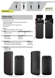 Artwizz Leather Pouch 1063-LP-P5-B Leaflet