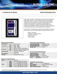 Super Talent Technology DuraDrive AT SATA 25, 64GB FSD64GC25I User Manual
