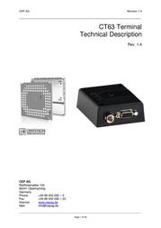 Cep Terminals 6201 GSM Remote Switch Control Module 6201 Data Sheet