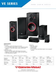 Cerwin-Vega VE Series Leaflet