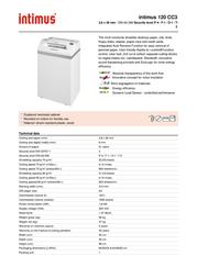 Intimus 120 CC3 120CC3 Leaflet