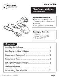 Micro Innovations Webcam 4310100 User Manual