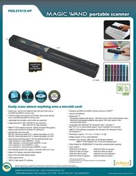 Vupoint Solutions Magic Wand PDS-ST415PK-VP Leaflet