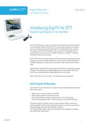 Elgato Digital TV Recorder with USB 2.0 DTT Receiver EYETVDTT Data Sheet