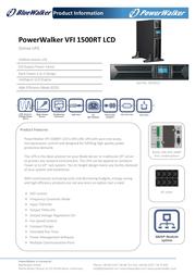 BlueWalker Powerwalker VFI 1500RT LCD 10120121 Leaflet