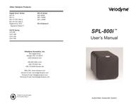 Velodyne cht-10r User Manual