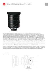 Leica SUMMILUX-M 24 mm f/1.4 11601 User Manual