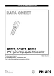 Kerafol N/A BC 327/25 PNP Case type TO 92 I(C) 1 A Emit BC327-25 Data Sheet