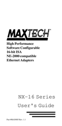 MAXTECH NX-16 User Manual