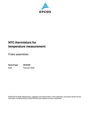 Epcos N/A HEISSLEITER, TEMPERATURKOMP./-MESSUNG, K R B57045K472K Data Sheet