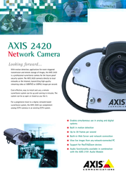 Axis 2420 WEB CAM 0127-002-01 Leaflet