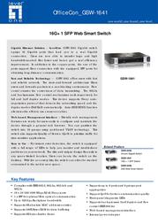LevelOne GSW-1641 520641 Leaflet