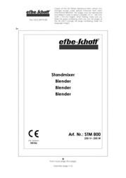 Efbe-Schott SC STM 800 S Data Sheet