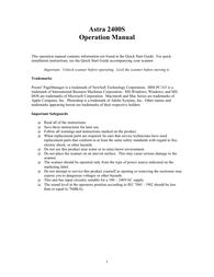 UMAX 2400s User Guide