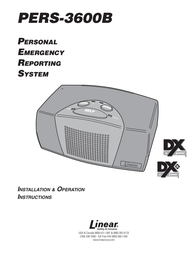 Niles Audio Personal Emergency Reporting System PERS-3600B User Manual