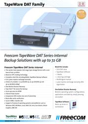 Freecom DAT Drive 12-24GB int SCSI DDS3 12663 Leaflet