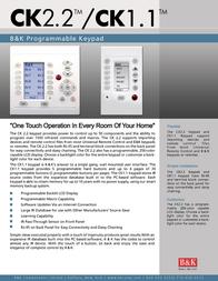 B&K Programmable Keypad CK1.1 Leaflet