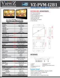 ViewZ VZ-PVM-I2B1 Leaflet