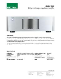 Rotel RMB-1506 Leaflet