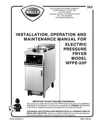 BLOOMFIELD WFPE-30F User Manual