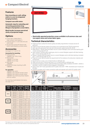 Projecta Compact Electrol 138x180 Matte White S 10100074 Leaflet