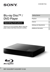 Sony 3D Blu-ray Disc™ Player with super Wi-Fi BDPS5500B Data Sheet