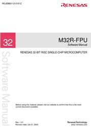 Renesas M32R-FPU User Manual