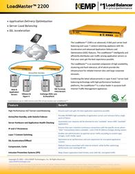 KEMP Technologies LoadMaster LM-2200 LM3-2200-B Leaflet