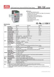 MEAN WELL SDR-120-24 Data Sheet