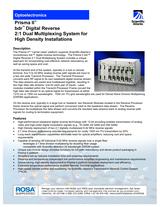 Cisco Model 6944 and 6940 Node bdr Dig Rev 2 1 Mux System for Prisma II Data Sheet