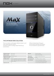 NOX Max NXMAX Leaflet