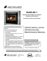 Delkin Devices Inc Indoor Fireplace EI - 25-1 User Manual