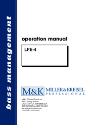 MK Sound LFE-4 User Manual