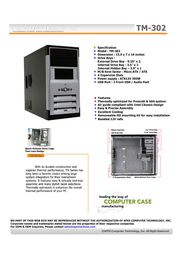 Apex TM-302 TM-302-3 Leaflet