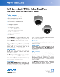 Pelco IM10C10-1 Specification Guide