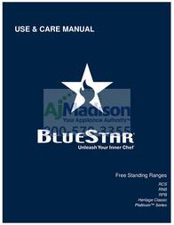 BlueStar RNB366BV2 Manual
