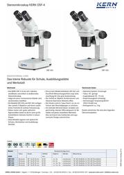 Kern Optics 40 x OSF 431 OSF 431 Data Sheet
