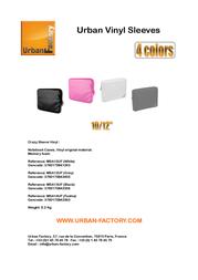 Urban Factory Vinyl Sleeve MSA11UF Leaflet