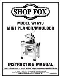Woodstock W1693 User Manual