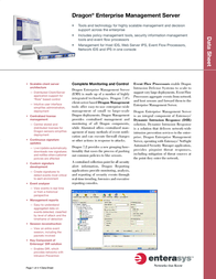 Enterasys Dragon® Enterprise Management Server DSEPA7 User Manual