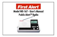 First Alert WX-167 User Manual
