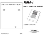 Linear RSM-1 Leaflet