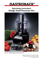 Gastroback Design Food Processor Pro 40964 User Manual